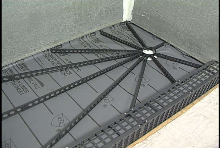 Quick pitch for Installing a shower tray on concrete floor